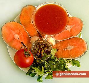Сёмга в томатном соусе