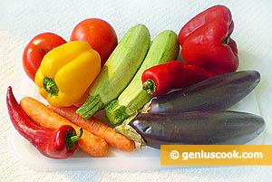 Овощные рулетики