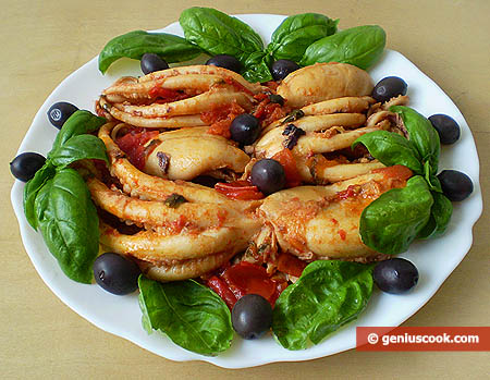 Осьминоги москардини в соусе