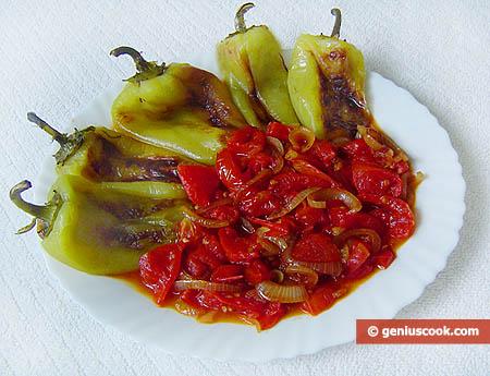 Перец с томатным соусом