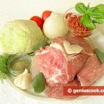 Ингредиенты для тушёной свинины
