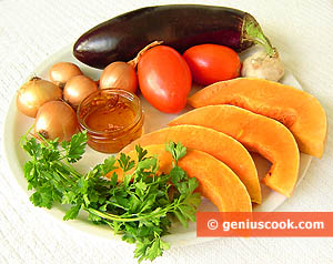 Ingredienti Stufato di zucca e melanzane