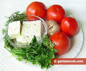 ингредиенты для помидор с брынзой