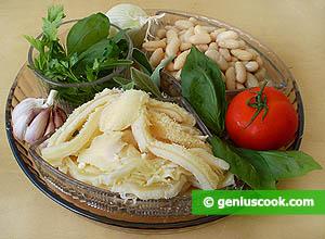 ингредиенты для рубца с фасолью