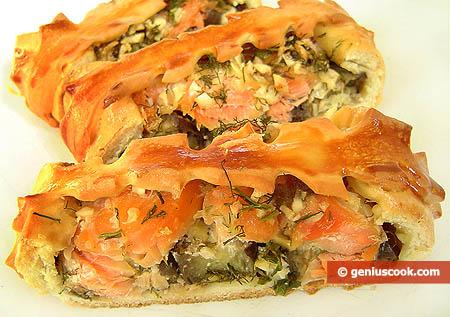 Пирог в разрезанном виде