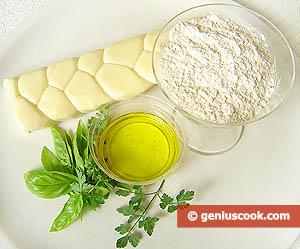 Ингредиенты для чебуреков с сыром