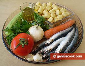 ингредиенты для ньокетти с анчоусами
