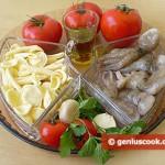 ингредиенты для итальянской пасты с осьминогом
