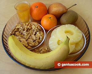 ингредиенты для фруктового ассорти