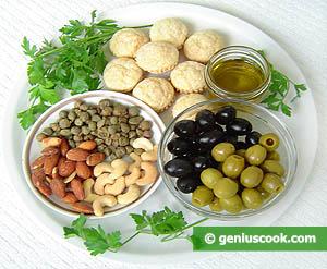 ингредиенты для пасты из оливок