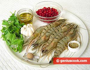 ингредиенты для креветок, тушеных в соусе