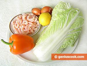 ингредиенты для салата с пекинской капустой