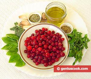 ингредиенты для клюквенного соуса