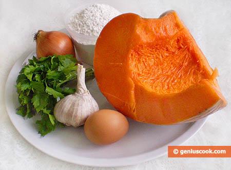 Ингредиенты для вареников с тыквой