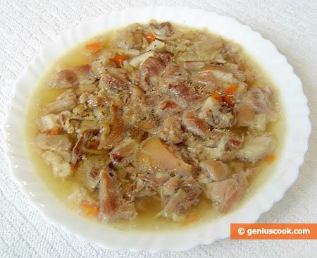 Холодец по русски с измельчённым мясом
