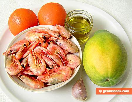 Ингредиенты для салата из папайи