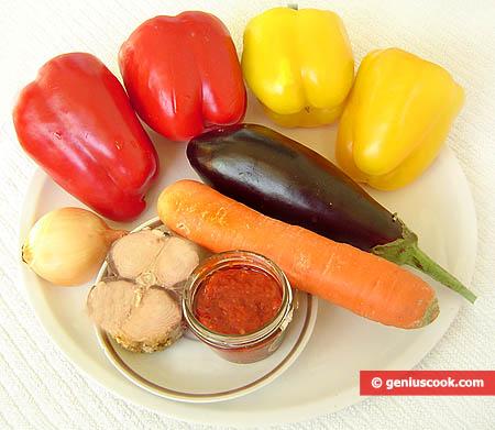 Ингредиенты для перца фаршированного тунцом
