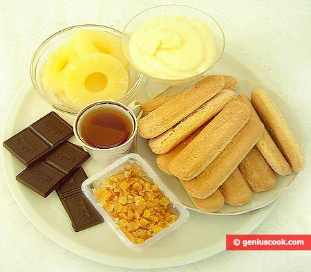 """Ингредиенты для торта """"Тирамису"""" ко Дню Святого Валентина"""