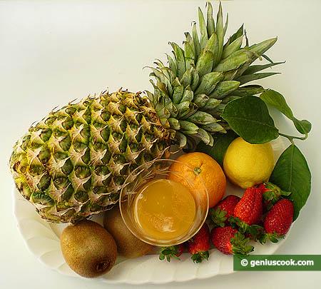 Ингредиенты для десерта с ананасом