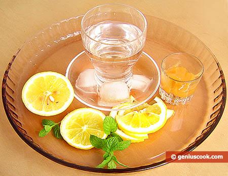 Ингредиенты для лимонада с мятой