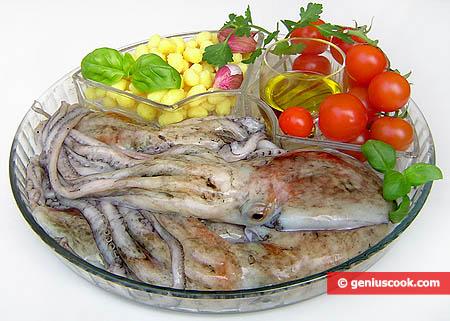 Ингредиенты для осьминогов москардини с ньокетти