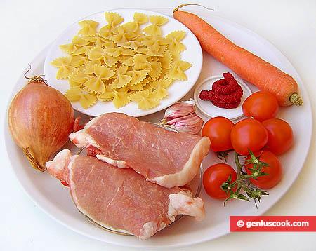 """Ингредиенты для бабочек в соусе """"Болоньезе"""""""