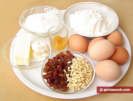 Ингредиенты для заварного кулича