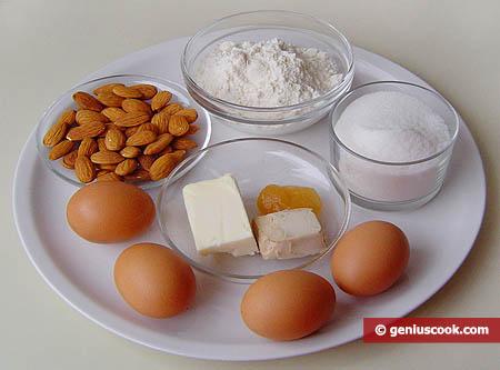 Ингредиенты для кантуччи