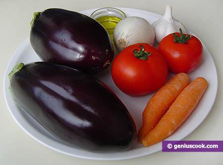 Ингредиенты для баклажанной икры