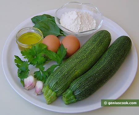Ингрединты для оладий из кабачков