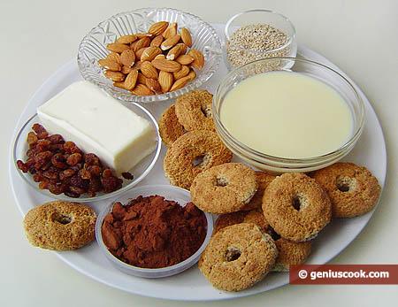 """Ингредиенты для пирожных """"Картошка"""" в кунжуте"""