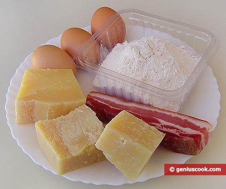 Ингредиенты для неаполитанских булочек