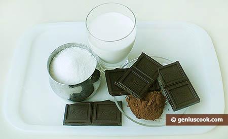 Ингредиенты для шоколадного мороженого