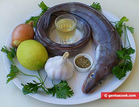 Ингредиенты для маринованной рыбы гронко на гриле