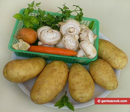 Ингредиенты для фаршированного картофеля
