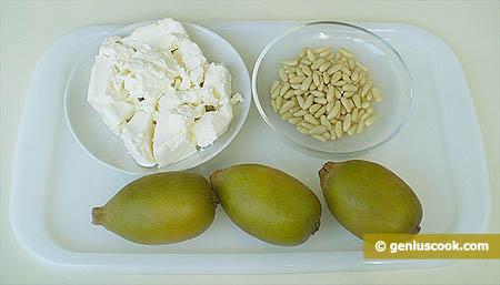 Ингредиенты для творожного мусса с киви