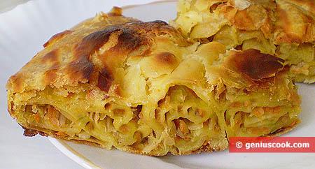 Кусочек капустного пирога