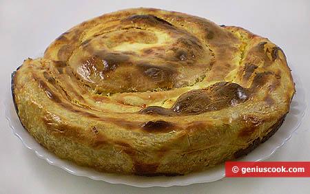 Капустный пирог из вытяжного теста фило