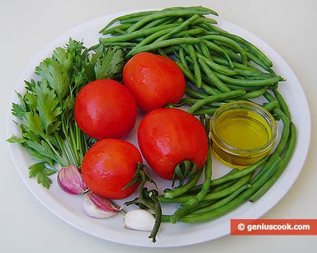 Ингредиенты для фасоли с помидорами