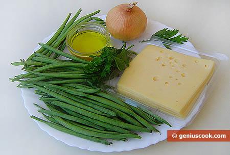 Ингредиенты для стручковой фасоли с сыром