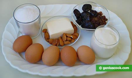 Ингредиенты для кексов с черносливом