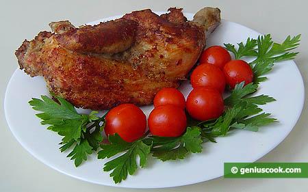 Цыплёнок жареный с розмарином и чесноком