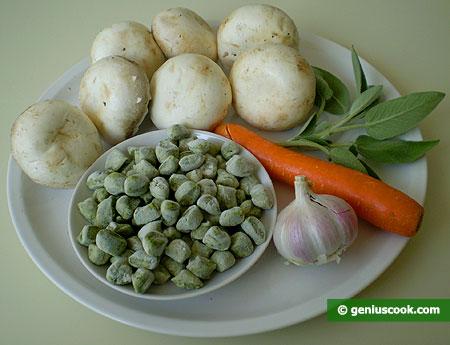 Ингредиенты для ньокетти с грибным соусом