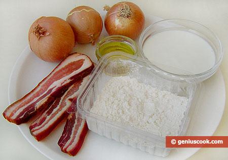 Ингредиенты для пирога фламмкухен