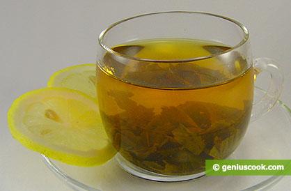 Зелёный чай с лимоном