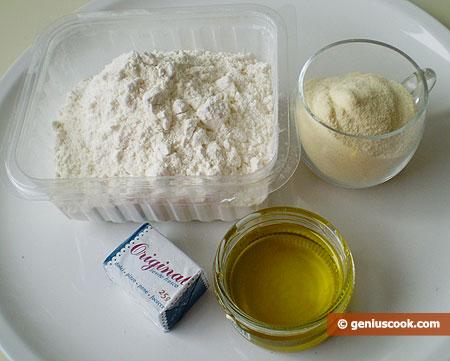 Ингредиенты для хлеба с манной крупой