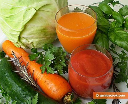 Соки из овощей сжигают жир