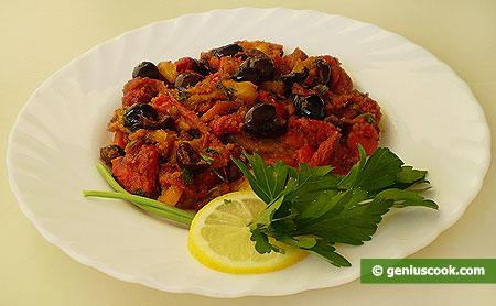 Перец с каперсами и оливками