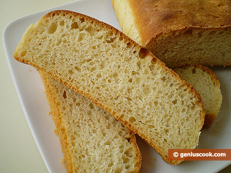 Хлеб с манной крупой в разрезе