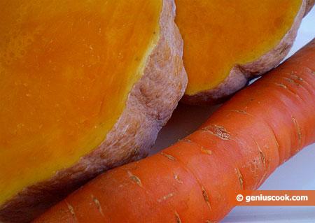 Тыква и морковь богаты каротином